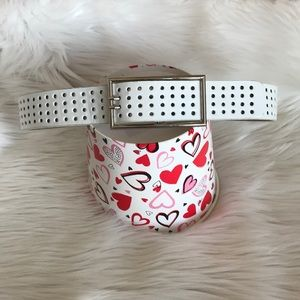 Accessories - White Genuine Leather Belt Size Small/Med. 26-32